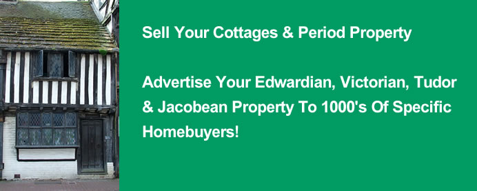 Cottages for sale - Jacobean and Tudor, fine Victorian and Edwardian houses
