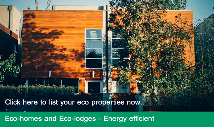 Eco-homes and eco-lodges for sale