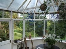 The conservatory, which leads off the kitchen