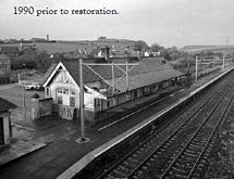 How the converted railway station used to look