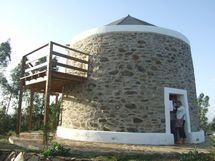Renovated windmill with deck