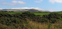view of Kinder Scout from garden