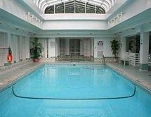 Pool in Victorian style conservatory